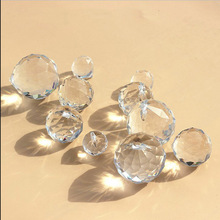 15mm/20mm/30mm/40mm Glass Faceted Crystal Ball Clear Hanging Prism Pendant Suncatcher Lamp Lighting Hanging Drop Wedding