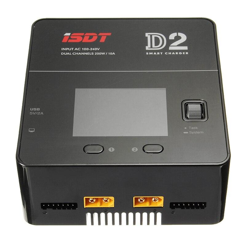 Большая распродажа! ISDT D2 200 W 24A AC двухканальный Выход Smart Батарея баланс Зарядное устройство
