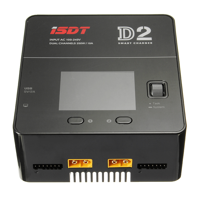 ISDT D2 200W 24A AC Dual Channel Output Smart Battery Balance Charger adda ad7512hb 7530 dc12v 0 24a