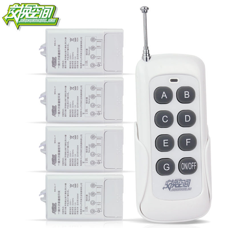 ФОТО JGL-IT 4 ways with 220V 30A Long Distance 3000W High Power Remote Control Power Switch