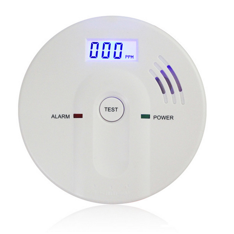 Free Shipping High Sensitive LCD Display 433MHz Wireless CO Gas Sensor Carbon Monoxide Poisoning Alarm Detector Home Security