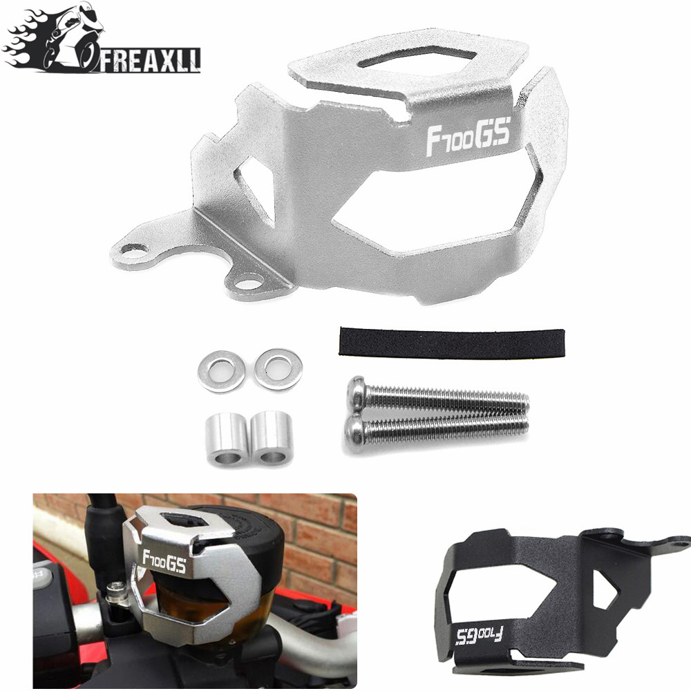 Motorcycle CNC Aluminum For BMW F800GS F700GS F 800 <font><b>GS</b></font> F <font><b>700</b></font> <font><b>GS</b></font> 2013-<font><b>2017</b></font> 2018 Front Brake Fluid Reservoir Guard Cover Protect image