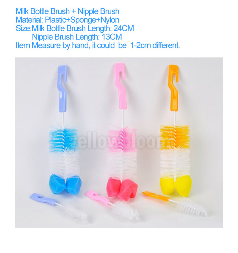 Silicone Bottle Teat Cleaning Brush Baby Feeding Bottle Cleaning Brush Quality#