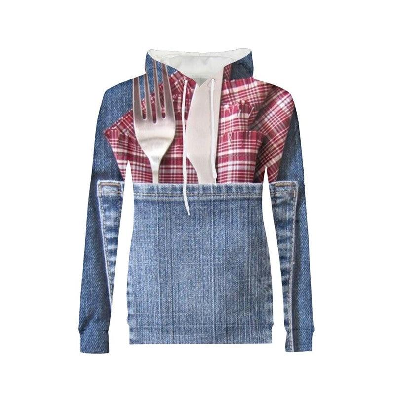 Hip Pop Cowboy Conception 3D Imprimé Femmes Streetwear sweatshirts à capuche Harajuku Survêtements Busó Para Mujer Pull Femme