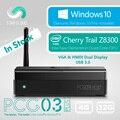 Безвентиляторный Intel Mini PC Звезды Облако PCG03 Плюс 4 ГБ 32 ГБ Windows 10 Главная Cherry Trail Z8300 HDMI VGA LAN Wi-Fi Bluetooth 4.0 USB3.0