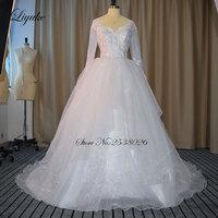 Chic Ruched Ruffles Organza Sweetheart Neckline A Line Wedding Dress 2017 Count Train Natural Waistline Bride