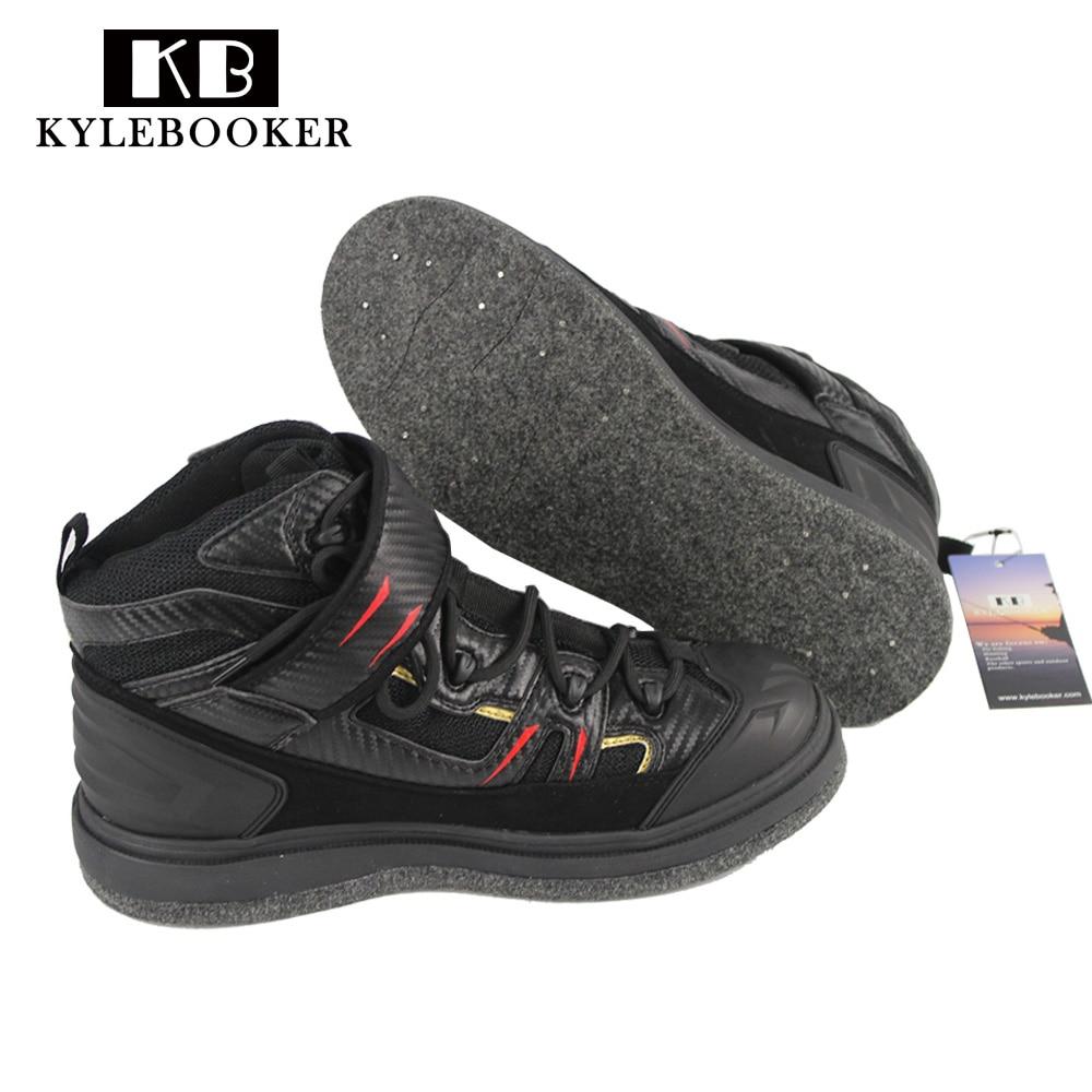 Rock Fishing Shoes Slip Resistant Mesh Breathable Outdoor Sport Shoes Men Waterproof Fishing Waders Felt spike