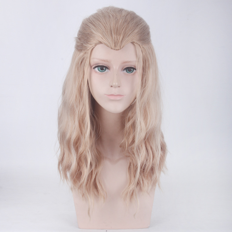 Movie Brown Mix Curly Long Synthetic Hair Cosplay Wigs The Avengers Thor The Avengers Thor cosplay wig Thor role play Wavy hair
