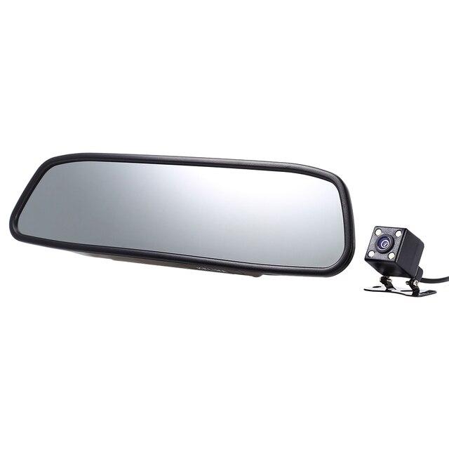 Kelima Универсальный 4.3 дюймов 480x272 TFT Экран автомобиля резервную обратный Системы Зеркало заднего вида Бесплатная доставка для автомобилей