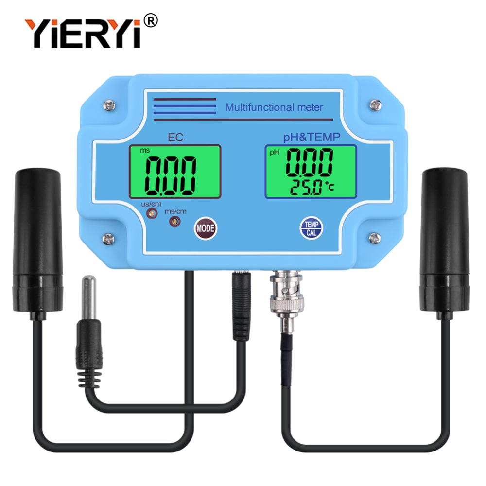 yieryi PH-2981 Digital LED PH And EC Meter Tester with 2 in 1 High Accuracy Monitoring Equipment Tool