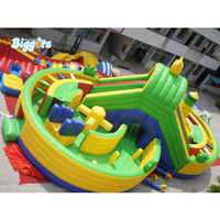 YARD Wholesale Large Inflatable Fun City Game Bouncing Jumper Bouncy Castle Obstacle Course With Climbing Game