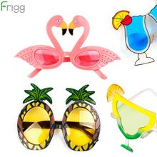 Frigg Hawaii Beach Pineapple Flamingo Sunglasses Bachelorette Hen Party Decoration Carnival Party Supplies Bride Party Favor purple bachelorette hen party supplies hen letter glasses bride sunglasses eye decoration photo props