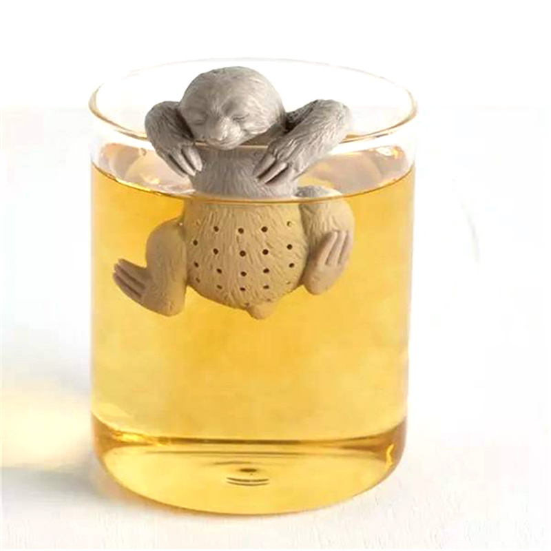 أداة نقع شاي من السيليكون الإبداعية كيس شاي السلامة تصفية مصفاة شاي ل براد شاي كوب استخدام لطيف الناس شكل الغذاء الصف