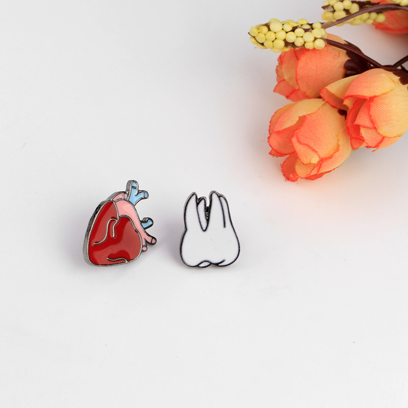 Fashion Cute Cartoon Brooch Pins The Human Organs Medical Brain Eye Heart Enamel  Lapel Pins Badge For Women Girls Clothing Bag  In Brooches From Jewelry ...
