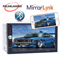 2 Din Car Stereo Radio Player 7 inch HD In Dash Touch Screen Bluetooth Car mp5 Player Support rear camera FM/USB Mirror Link