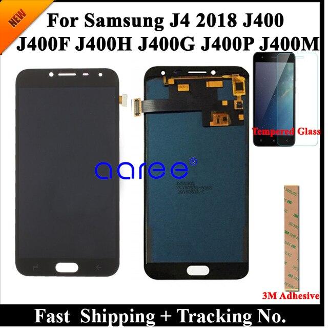 100% teste display lcd para samsung j4 2018 j400 lcd j400f lcd para samsung j4 2018 j400f tela de toque digitador assembléia