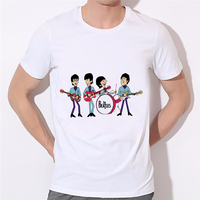 LEQEMAO The Beatles Men Casual Shirt For Man O Neck Tees New The Beatles Rock And