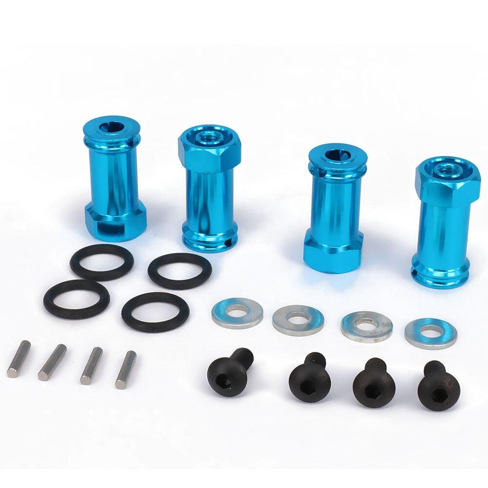 Wheel Hex Hub Adaptor Extension 4PCS 24mm Long 12mm Hex Diameter For Bigger Wheel For Rc Model Car 1/14 Lc Racing Full Series