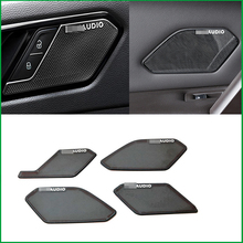 For Volkswagen Tiguan MK2 LHD 2017 2018 Car Interior Audio Speaker Sound Cover Decorating moldings Sticker Trim Decoration