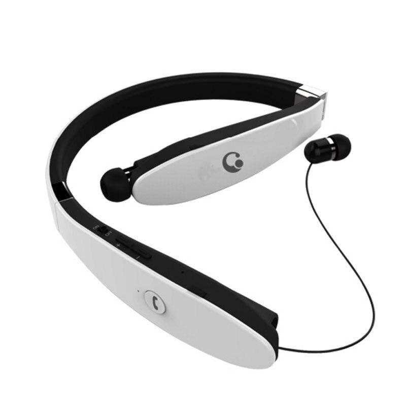 DOITOP Foldable Neckband Earphone Sport Running Wireless Bluetooth Headphone Hifi Stereo Music MP3 Headset Anti-lost Earbuds