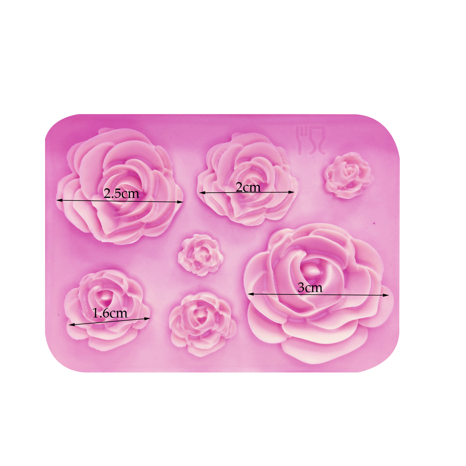 Rose Flowers Silicone Fondant Mold 3