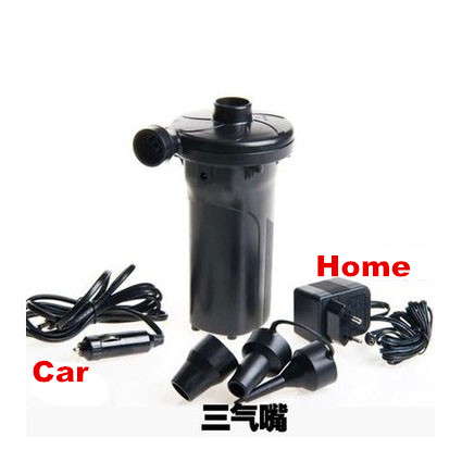 12V + 220V Rechargeable Electric Air pump Battery inflatable air Pump Inflate Reflate for car Outdoor mattress beach bed camping dc 12v portable electric air pump air bed mattress boat car auto air inflatable pump for camping inflator with 3 nozzles mayitr