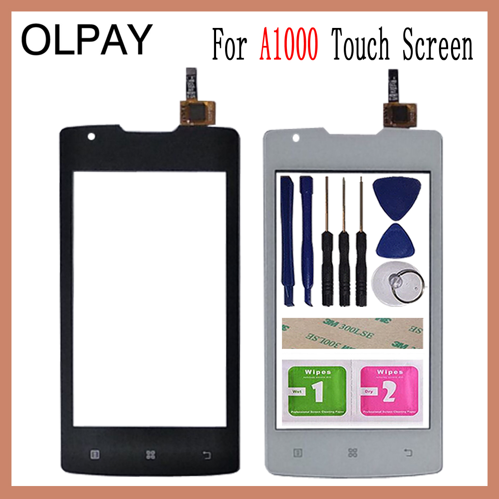 OLPAY 4.0 Inch For Lenovo A1000 A 1000 Touch Screen Glass Digitizer Panel Touch Screen Front Glass Lens Sensor Tools