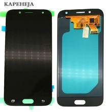 Super AMOLED LCD Display For Samsung Galaxy J5 2017 J5 Pro J530 J530F LCD Display Touch Screen Digitizer Assembly oem lcd display touch screen digitizer assembly for samsung galaxy j5 j5008 17pin white black gold with tempered glass tools