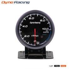 Dynoracing 60 мм черный датчик давления масла для лица Янтарный/белый светильник 0-10 бар датчик давления масла с пиковой функцией BX101482