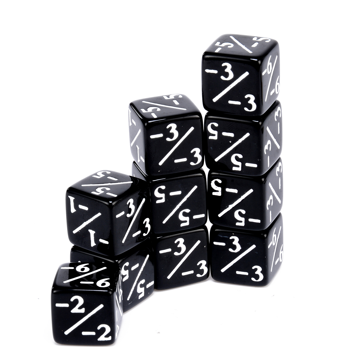10cs Dice Counters Black Negative -1/-1 Dices For Magic The Gathering MTG Games Outdoor Family Party Interesting Games Tool