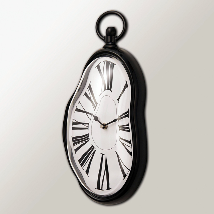 Home Decoration Wall Clocks Vintage Surreal Distorted Bell Melted
