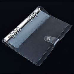 A5 папка с кольцевым механизмом ПВХ вкладыш крышка прозрачная свободное раздвижное кольцо записная книжка еженедельник Cover 235 х 182 мм
