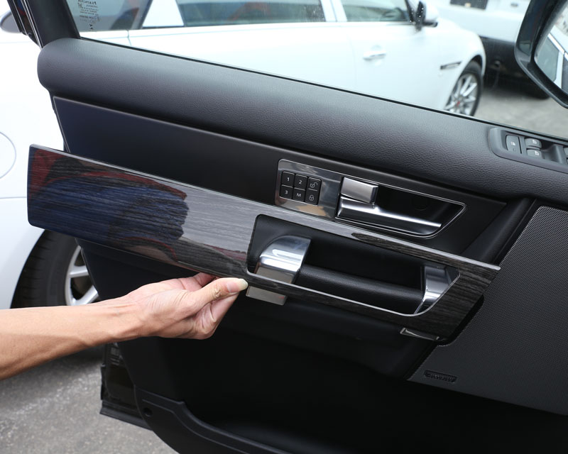 For Land Rover Discovery 4 LR4 Interior Door Handle Panel Cover Trim ABS  Black Wood Grain Newest 4pcs/set In Interior Mouldings From Automobiles ...