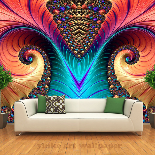 Great 3d Photo Wall Mural Wallpaper Art Abstract Picture Coloured Sculpture Wall  Mural Wallpaper For Sofa TV Part 23