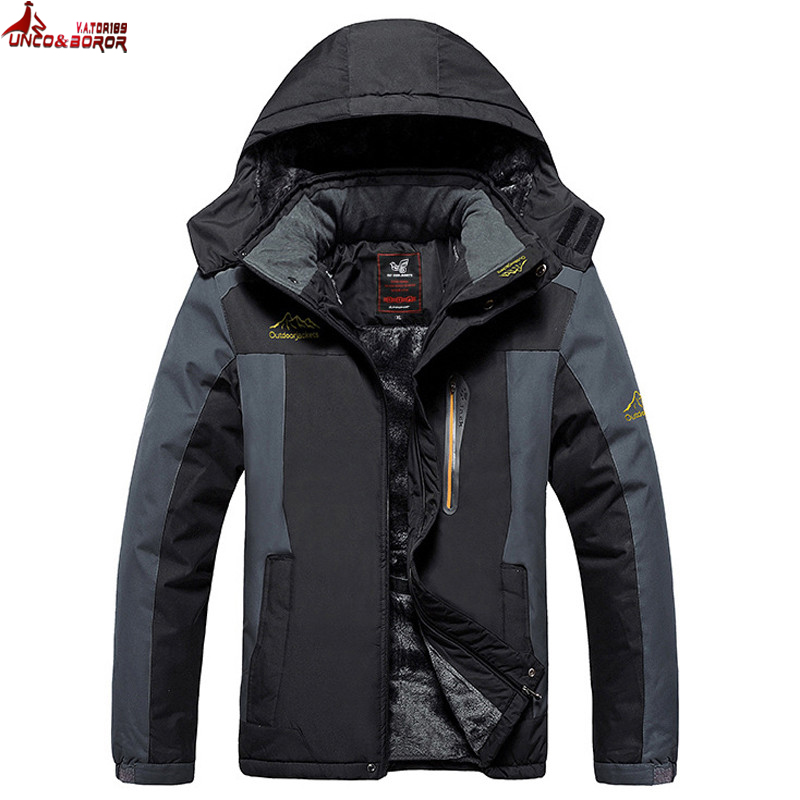 UNCO BOROR Size 5XL 6XL 7XL 8X 9XL winter font b jacket b font men outwear
