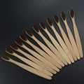 wholesale korea fashion style 12PCS/lot dental Care Soft Bristle Eco friendly  wooden Bamboo Toothbrush  tongue scraper