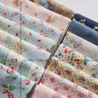 Nuovo arrivato stile britannico tessuto di cotone fiore stampato marca animale stampato tessile abbigliamento materiale tessuto 100% cotone