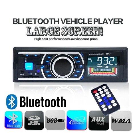 dc 12 v bluetooth audio estereo do carro mp3 player 60 w 4 fm radio