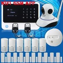 Бесплатная Доставка! G90B WI-FI ip-камеры GSM Беспроводной/Проводной Главная Охранной охранной Сигнализации + 10 Датчик Двери и новый Пожарный Датчик