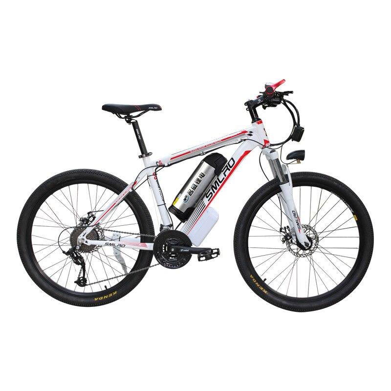 26 pollici in lega di alluminio elettrica bicicletta della montagna ebike 27 velocità e-mtb 48 v batteria al litio 500 w motore hybrid bicicletta