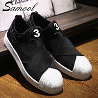 Samool Men Casual Loafers Shoes Upper Bandage Design Three Kinds Of Color S Slip On Zapatillas