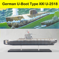 1/144 WWII German Warship U Submarine U 2518 Electric Ups And Downs Plastic Assembly Model Ship