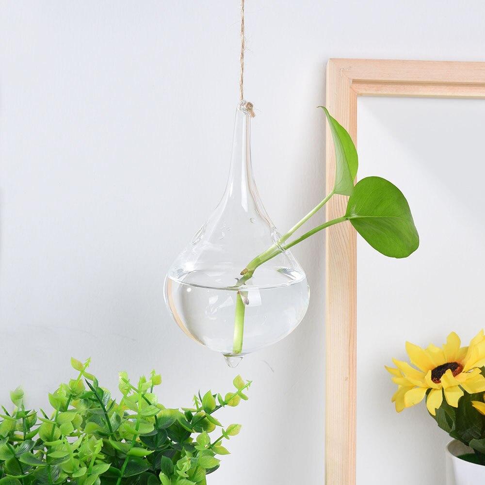 Plant In Glazen Pot.Us 0 5 40 Off Huis Tuin Opknoping Glazen Bal Vaas Bloem Plant Pot Terrarium Container Party Wedding Decor Creative Opknoping Decoratie In Vazen Van
