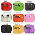 9 Colores 7 unids/set Fundación Pinceles de Maquillaje Sombra de Ojos En Polvo Ceja Eyeliner Maquillaje sistema de Cepillo Cosmético Profesional Kit de Herramientas