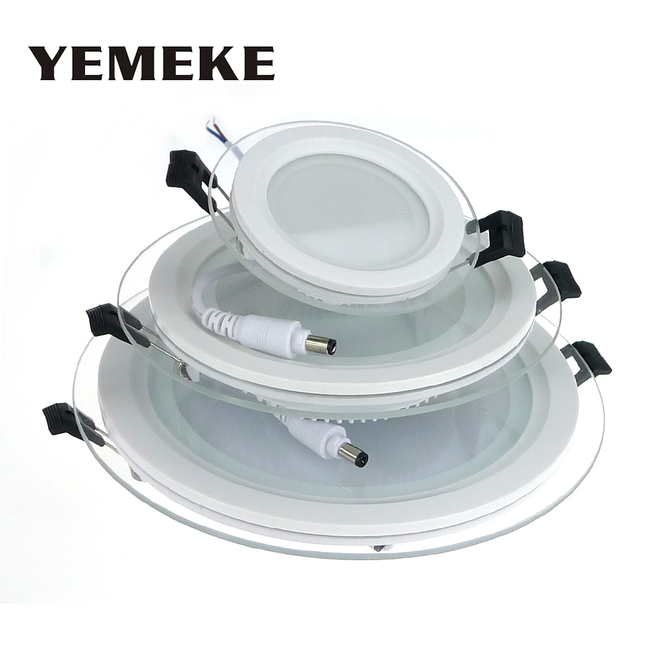 LED Panel Light Recessed Dimmable 6W 12W 8W Spot Lights Led Ceiling LED Panel Downlight With Glass Cover Indoor Lighting