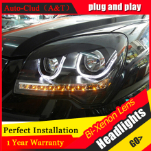 Auto Clud 2007 2013 For kia sportage headlights LED lights bars DRL bi xenon lens H7