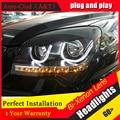 Auto Clud 2007-2013 Para kia sportage faros LED barras de luces DRL lente del xenón del bi xenon H7 faros Angel Eyes car styling