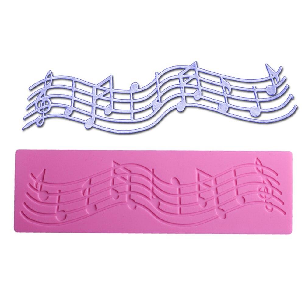 Музыкальная кружевная силиконовая форма, инструменты для украшения торта, силиконовая форма для свадебного печенья, шоколадные силиконовы...