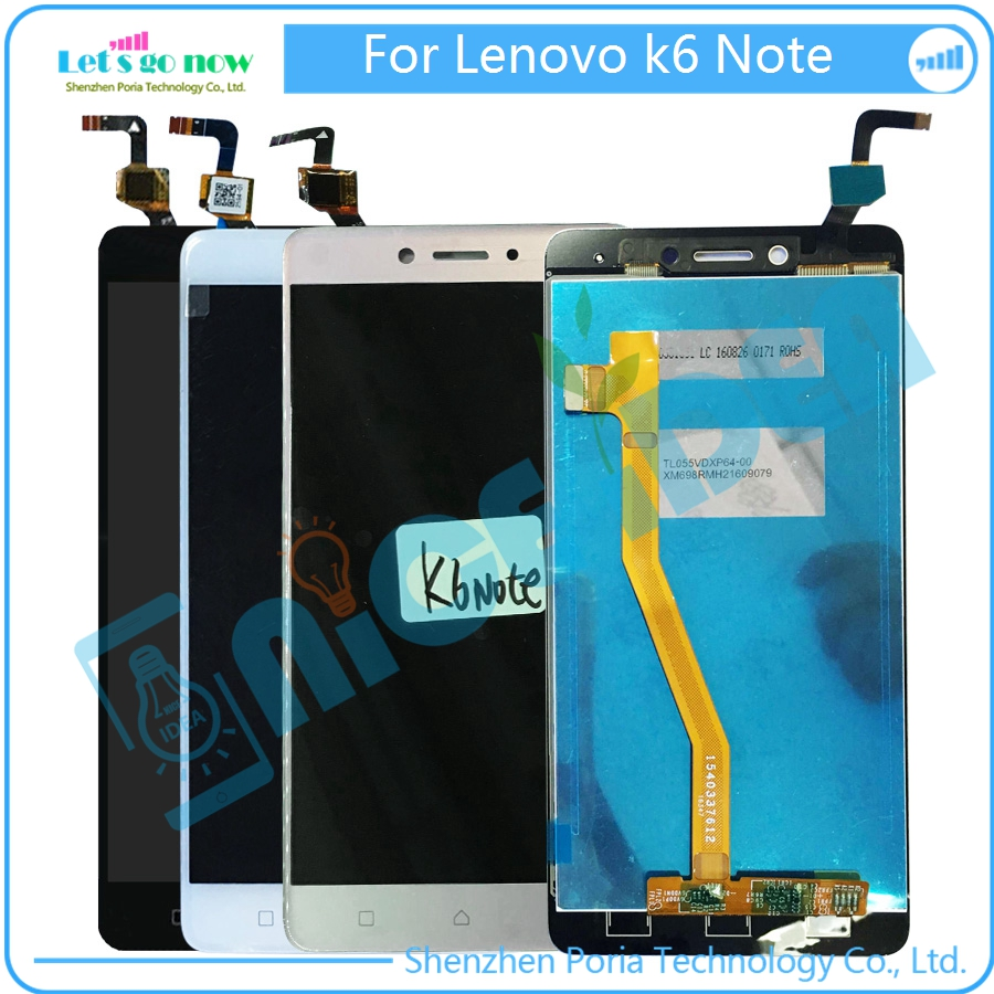 ФОТО New For Lenovo k6 NOTE LCD Display Touchscreen Digitizer Assembly Replacement Parts In Stock