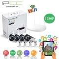Ipcc 4ch 1080 p nvr kit de cámara de vigilancia inalámbrica wifi día y la Visión nocturna de la cámara de 2mp ip Fácil Ver por IOS o Android App